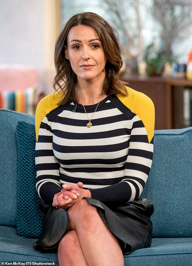 Brave:Suranne Jones has discussed undergoing therapy for 18 years and her father's tragic death from COVID-19 in an emotional new interview (pictured 2018)