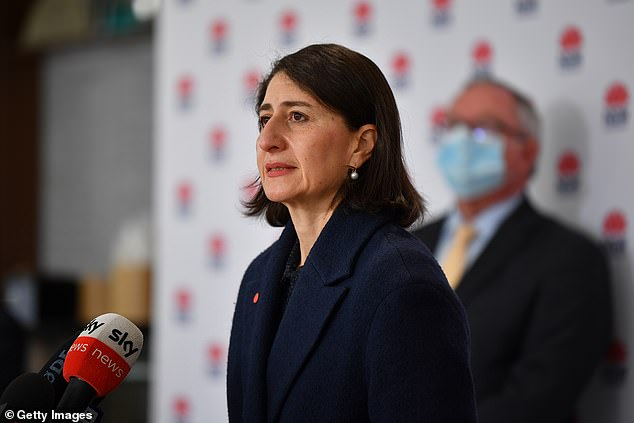 Moving forward: NSW Premier Gladys Berejiklian, who extended stay-at-home orders to at least August 28 as the latest outbreak rose to 3,427 infections, said her government had a plan to 'break records' as it ramped up its immunisation campaign