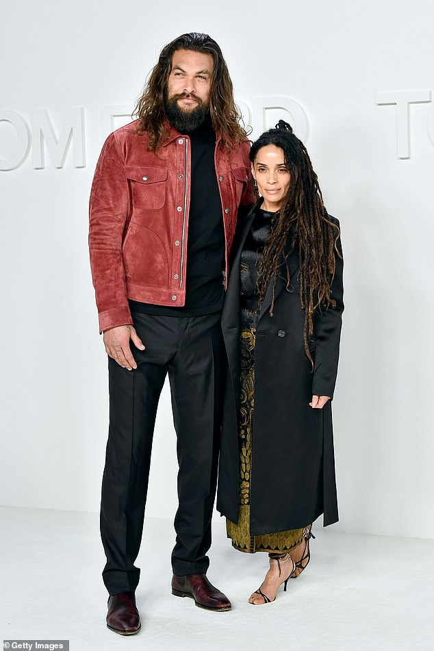 Wife: Momoa and Bonet have been married since 2017 and were together for a decade before they wed; pictured February 2020