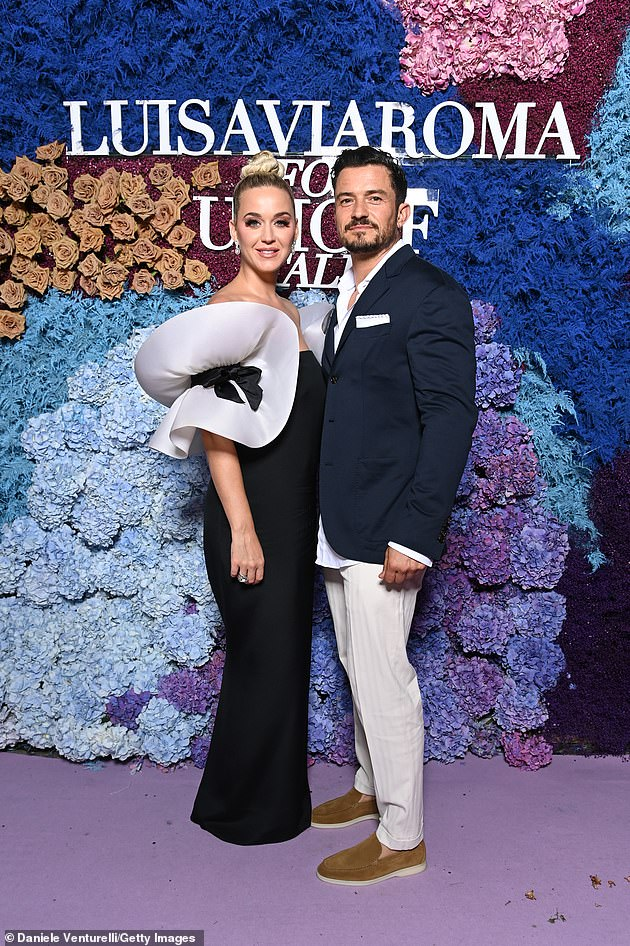 Cute couple: Katy Perry hit up the UNICEF fundraiser event with her handsome beau, Orlando Bloom, 44