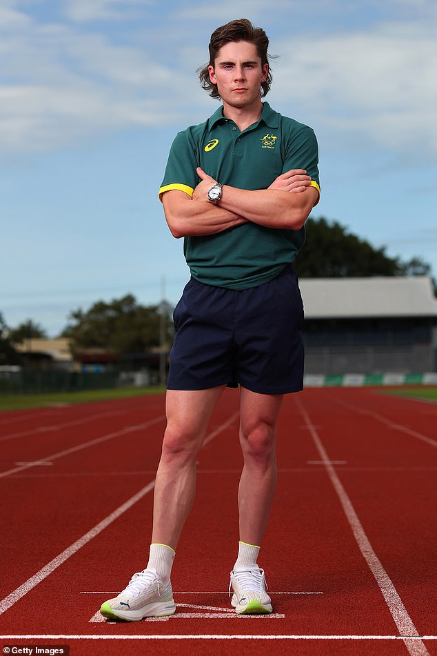 Sprinter Rohan Browning poses for a portrait during an Athletics Australia training camp at Barlow Park on July 16, 2021 in Cairns, ahead of the Tokyo Games