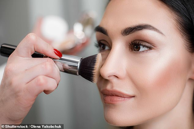 Winter hay fever can cause persistent sneezing, watery eyes, itching, as well as smeared makeup.  But thankfully your everyday cosmetic look isn't ruined (stock photo)