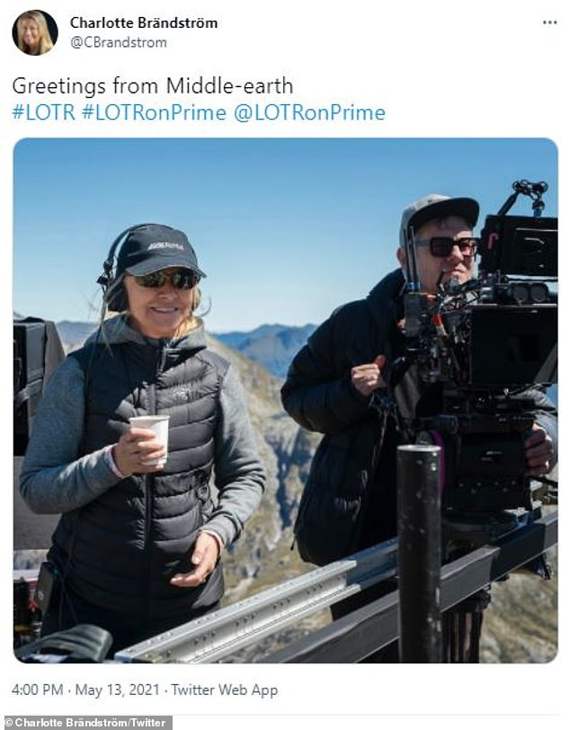 """""""Greetings from Middle-earth!  The epic drama takes place thousands of years before the events of The Hobbit and The Lord of the Rings films (director Charlotte Brändström pictured on May 13)"""