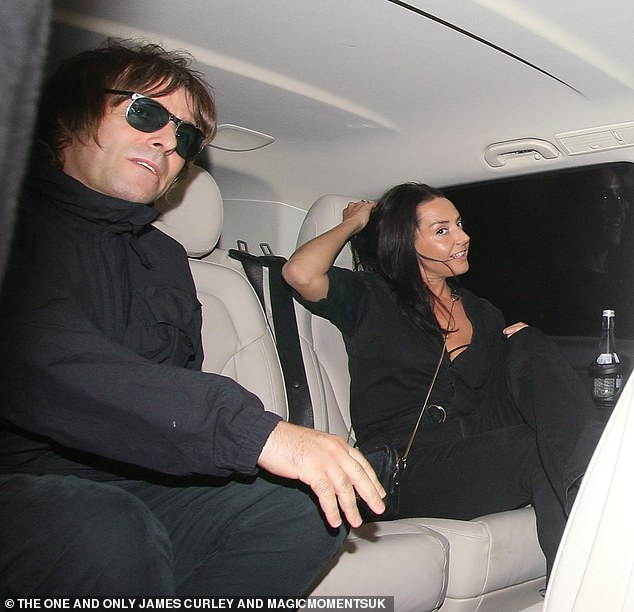 Home time: Liam and Debbie hopped into a waiting car and were driven home after calling him one night