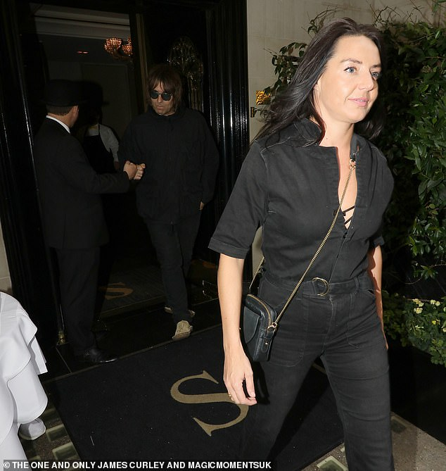 Punching: Liam was seen punching door staff as they left the upscale venue