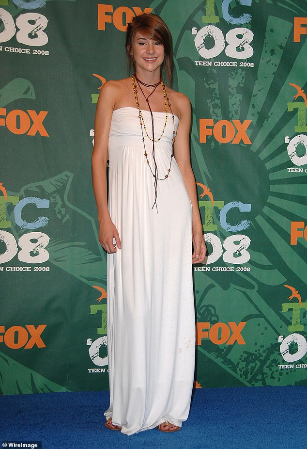 Self image:The Divergent actress admitted there was a time when she struggled with comparing herself to others, and says it had a really detrimental effect on her mental health. Seen in 2008