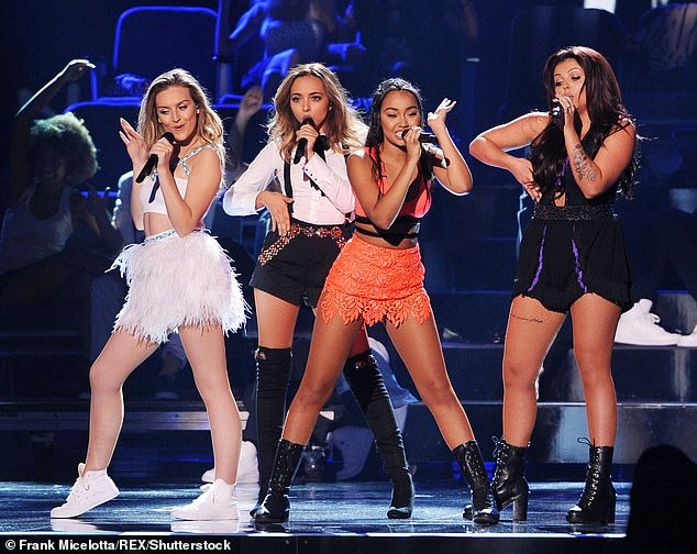 Jesy told fans: 'The truth is recently being in the band has really taken a toll on my mental health. I find the constant pressure of being in a girl group and living up to expectations very hard' (pictured in 2017)