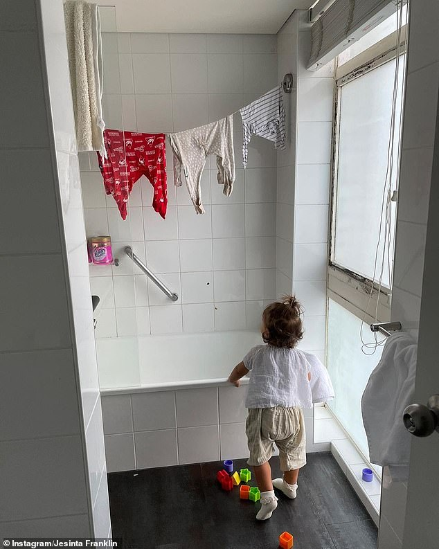 Countdown: On July 25, Jesinta shared this photo of her daughter Tullulah on Instagram and captioned it: