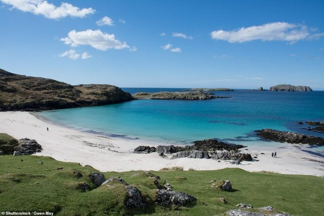 The country's 93 islands, including the Isle of Lewis (pictured), range in population from 20,000 to just one.