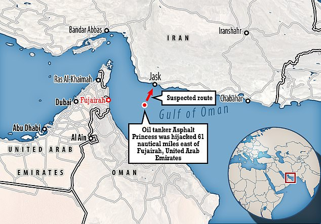 The commandos were trying to divert the tanker to an Iranian port but fled when US and Omani warships caught up to the vessel, sources said