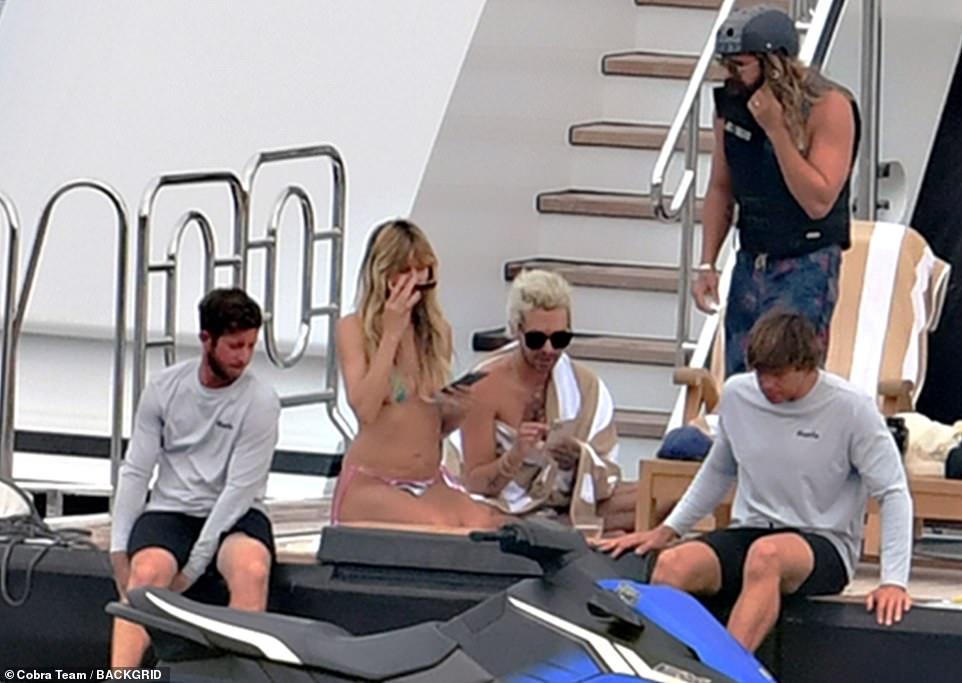 Fun!  The boat staff prepared a jet ski for Heidi, Tom and Bill