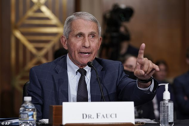 Fauci (pictured) said that unvaccinated Americans should get the shots, not just for their own safety, but for the safety of everyone