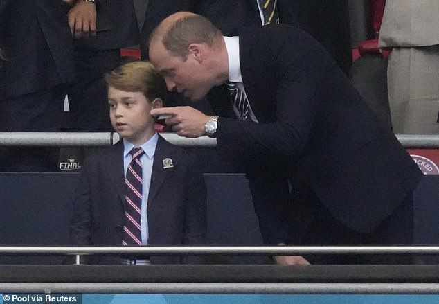Prince William (right) and Prince George often spend a father-son day on the Glorious Twelfth, as they wander the Balmoral moors and try to shoot grouse, but the event could be canceled this year