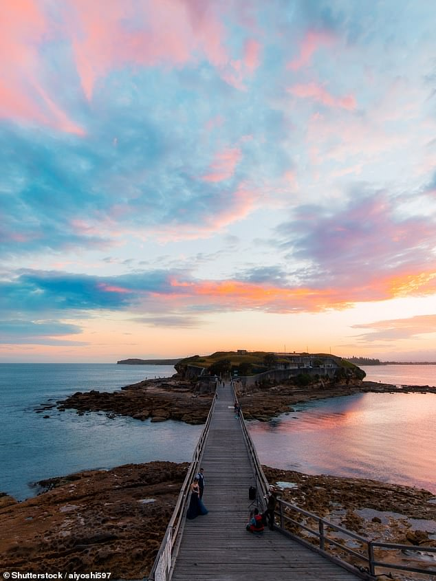 The spot is known as one of the most magical to catch the sunset in Sydney
