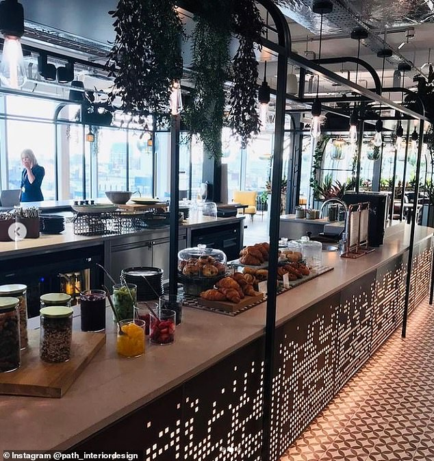 At PwC there's also a client focused flexible hospitality area with a premium coffee and deli counter themed around Belfast's Botanical Gardens