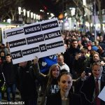 Victoria records six Covid cases as Melbourne protesters hurl BOTTLES at cops at anti-lockdown rally 💥👩💥