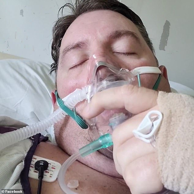 Campbell posted a video of himself struggling to breathe while wearing a mask to his Facebook page on Thursday