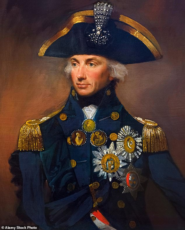 Lord Horatio Nelson's (pictured) snuff box that helped start an affair with Lady Hamilton has been put up for sale - for £45,000
