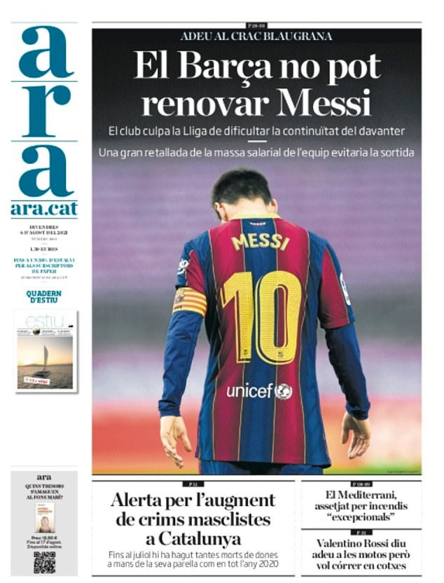 ARA say Barca could have prevented Messi's exit if they had of reduced their wage bill further