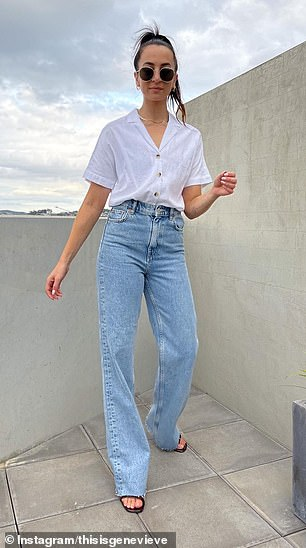 Butcelebrity stylist Donny Galella says they can be just as flattering as straight leg 'mum' jeans (pictured)