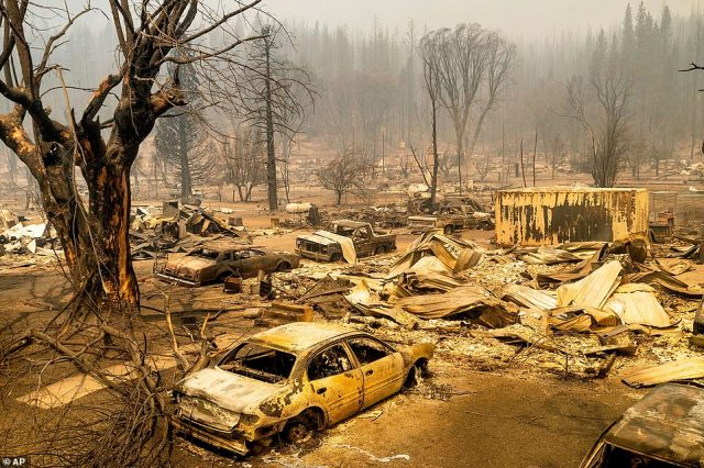 Greenville, seen on Thursday, was an apocalyptic vision after the Dixie Fire raged through