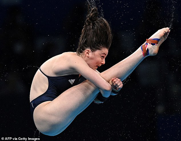 Superstar!She took seventh place at the Tokyo 2020 Olympics Women's 10m platform diving final on Thursday