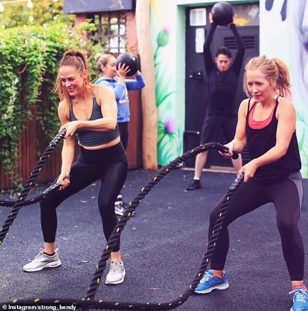 Twins Rhian Cowburn and Faye Mouse Bell decided to start their own exercise studio, which they named Strong And Bendy, after getting fed up with mainstream gyms 'shaming' their customers with before and after photos