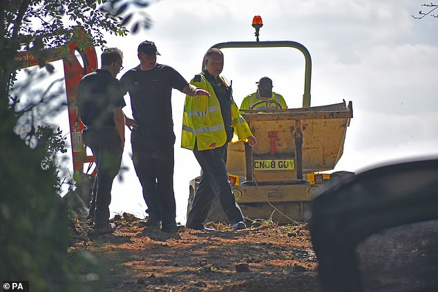 A search of a wooded area by police in 2019 (pictured) is not believed to have found any significant new evidence in Suzy's case