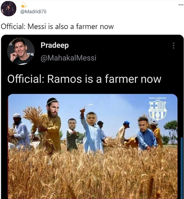 Messi is set to play withGeorginio Wijnaldum and Sergio Ramos as well as Neymar and Mbappe