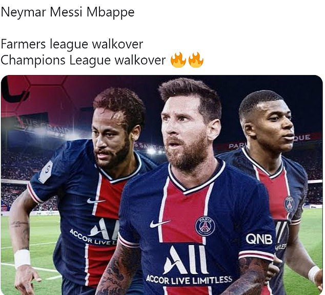 Fans think a front line of Messi, Neymar and Kylian Mbappe will race to the Ligue 1 title