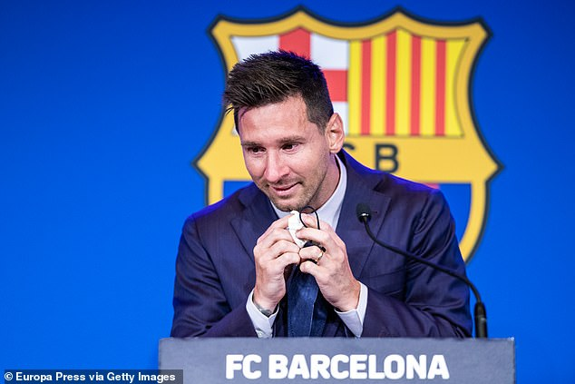 Lionel Messi was in tears as he left the club after 21 years as his emotional exit was confirmed