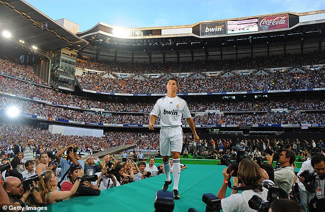 Cristiano Ronaldo's £80m fee to move from Manchester to Madrid was a world record in 2009