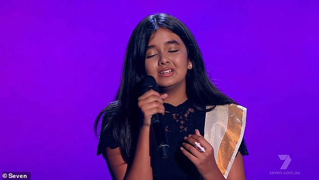 Talented:Janaki soon revealed she sings Indian classical music before giving the judges an impromptu performance