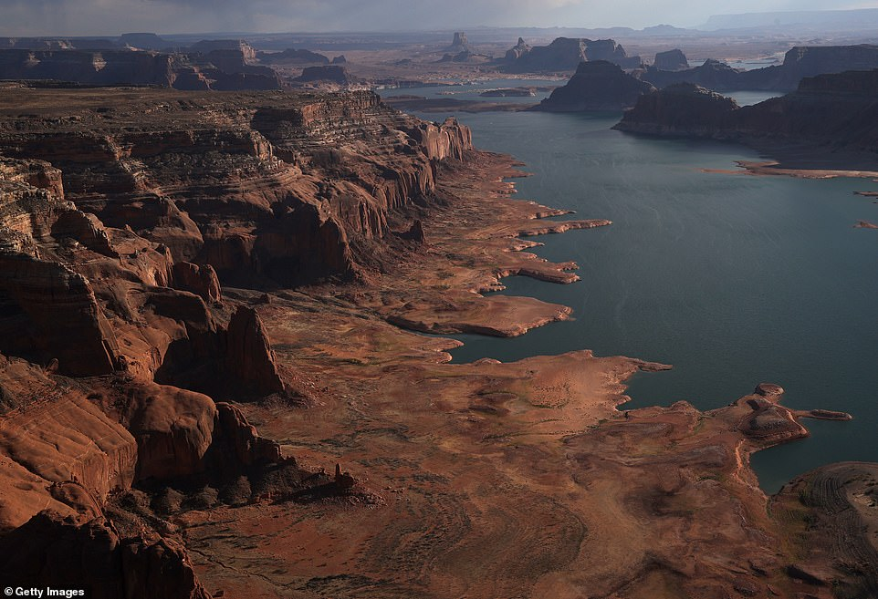 Along with a surge in wildfires, much of the US is experience historic droughts that are draining rivers, lakes and reservoir to nearly bone-dry basins. Lake Powell, America's second largest reservoir, hit its lowest level last month