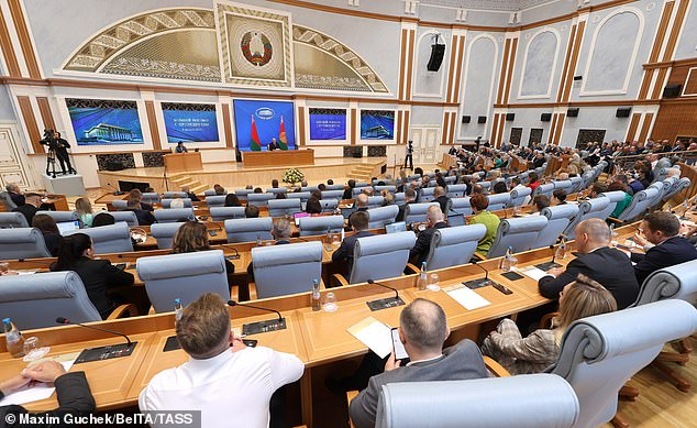 Lukashenko was speaking at a rare press conferences featuring members of foreign media in Minsk to mark one year since his 'reelection'