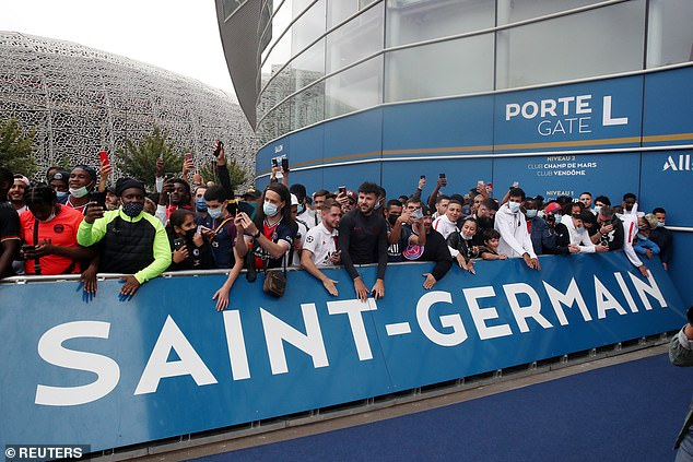 Fans waited all day on Monday outside the club's Parc des Princes stadium in anticipation
