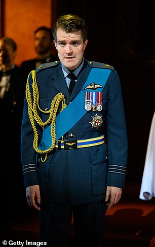 Military man: Wills is seen in his military attire