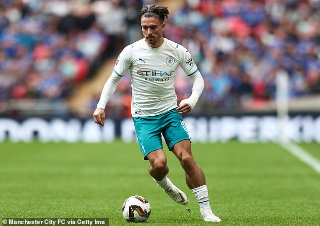 Grealish made his first appearance for the Citizens at Wembley in their Community Shield loss