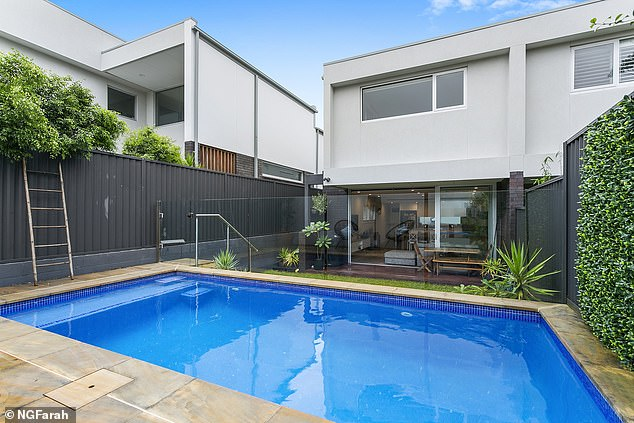 Outdoor living:The property has a multi-use lock-up garage with storage and a swimming pool