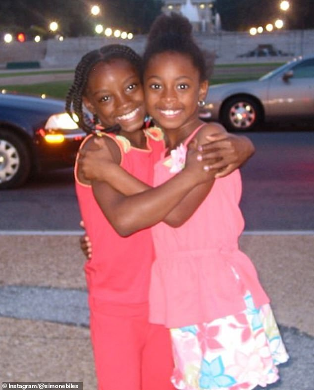 Siblings: Biles and her sister Adria were both formally adopted by their grandparents when the gymnast was six years old