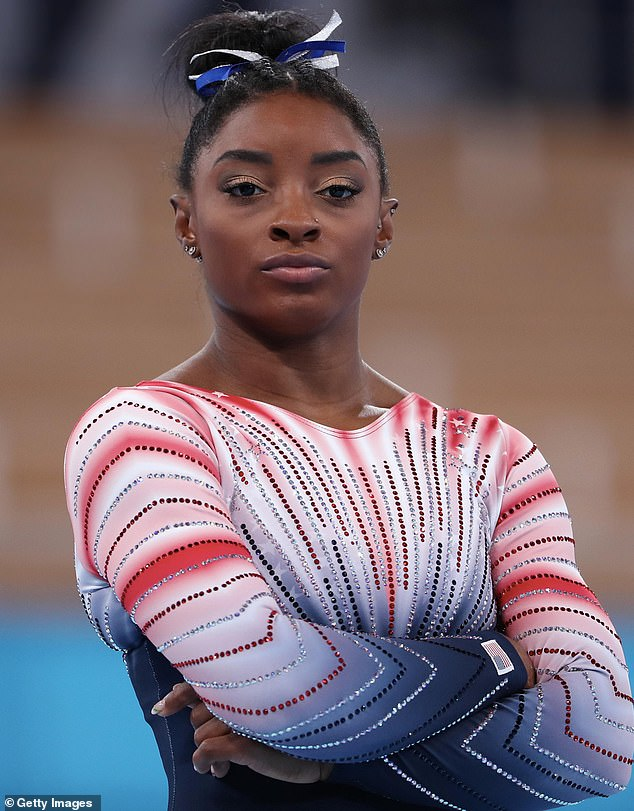 Speaking out: Gymnast Simone Biles shared her 'pro-choice' stance on abortion during an 'unpopular opinions' Q&A on Instagram on Monday night