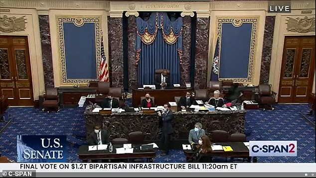 The Senate finally voted on a $1.2 trillion bipartisan infrastructure bill on Tuesday morning, following months of tortuous negotiations that frequently skirted collapse