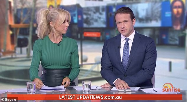 'I had to say goodbye on FaceTime': Weekend Sunrise host Matt Doran (right, with co-host Monique Wright) has revealed he couldn't be with his dying grandfather in his last moments