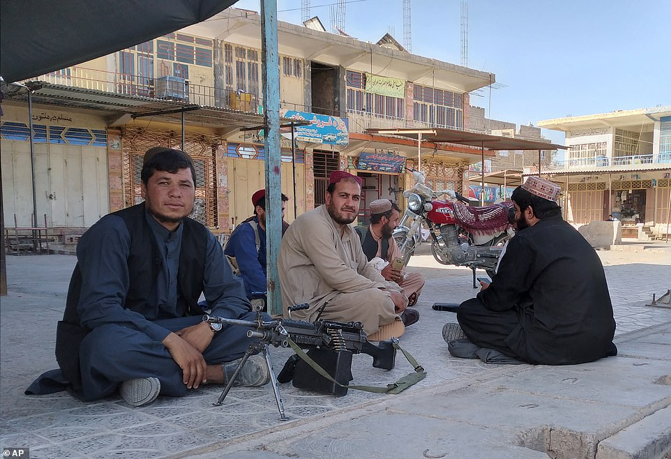 Farah was one of three cities which fell to the Taliban on Tuesday, with fighters posing in the city centre on Wednesday