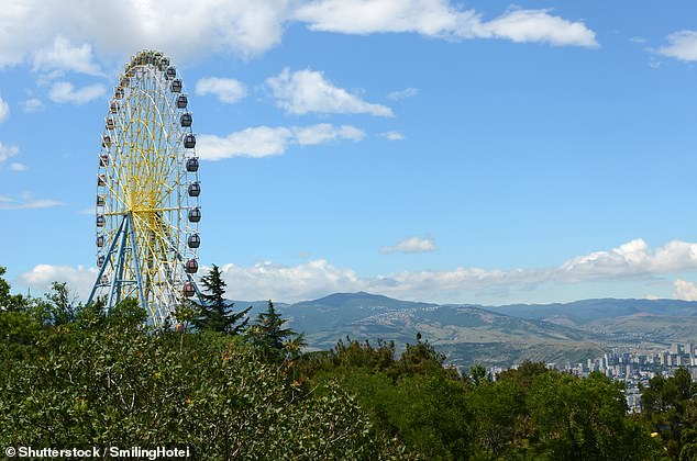 The ferris wheel attraction in Mtatsminda Park would have been in view of Shanae Brooke Edwards when she was allegedly murdered