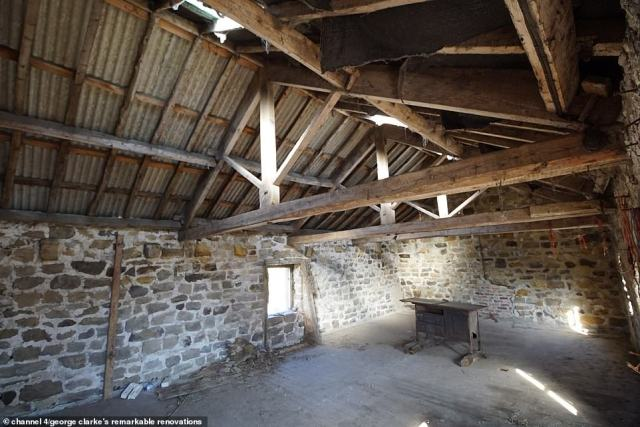 Meanwhile the upstairs space was unstable and many of the original features had to be stripped away after George Clarke deemed them 'knackered'