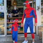 Former NRL star dons VERY ill-fitting Spider-Man costume for a beachside outing with his son💥👩💥💥👩💥
