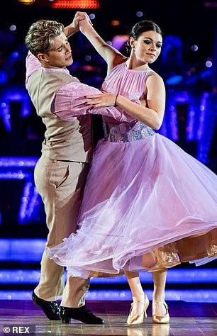 Determined: Lauren Steadman pictured dancing with AJ