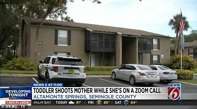 Detectives said Lynn's toddler discovered an unlocked pistol which belonged to his father and shot his mother in the head at their home in Altamonte Springs on the outskirts of Orlando