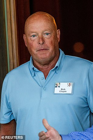 Disney CEO Bob Chapek arrives at the annual Allen and Co.  Sun Valley Media Conference in Sun Valley, Idaho, USA July 6th
